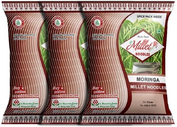 e-Millet Moringa Noodles with Masala pack of 190g x 3 nos Hakka Noodles Vegetarian