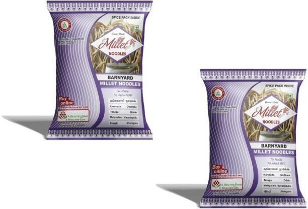 e-Millet Barnyard Millet Noodles with Masala pack of 190g x 2 nos Hakka Noodles Vegetarian