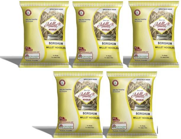e-Millet Sorghum Noodles with Masala pack of 190g x 5 nos Instant Noodles Vegetarian
