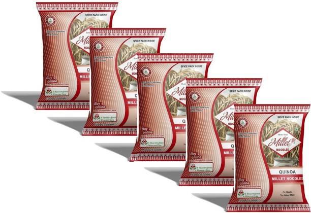 e-Millet Quinoa Millet Noodels with Masala pack of 190g x 5 nos Instant Noodles Vegetarian