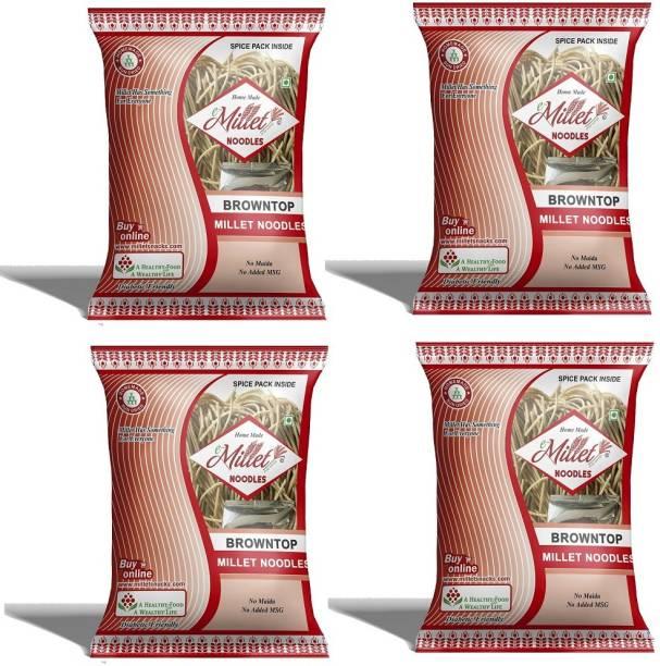 e-Millet Browntop Rice Noodles with Masala pack of 190g x 4 nos Instant Noodles Vegetarian