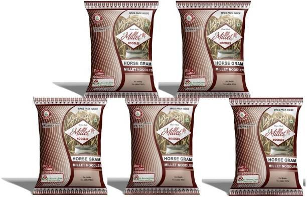 e-Millet Horse Gram Noodles with Masala pack of 190g x 5 nos Instant Noodles Vegetarian