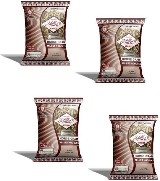 e-Millet Horse Gram Noodles with Masala pack of 190g x 4 nos Instant Noodles Vegetarian