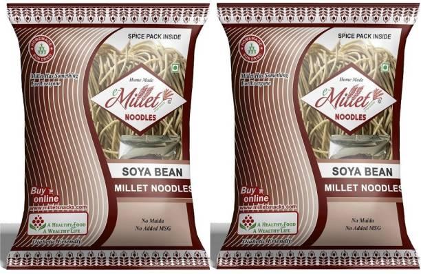 e-Millet Soya Noodles with Masala pack of 190g x 2 nos Hakka Noodles Vegetarian