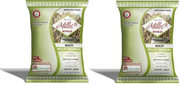 e-Millet MultiMillet Noodles with Masala pack of 190g x 2 nos Hakka Noodles Vegetarian