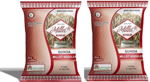e-Millet Quinoa Millet Noodels with Masala pack of 190g x 2 nos Instant Noodles Vegetarian