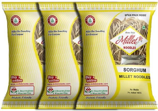 e-Millet Sorghum Noodles with Masala pack of 190g x 3 nos Hakka Noodles Vegetarian