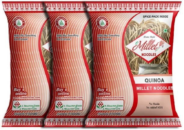 e-Millet Quinoa Millet Noodels with Masala pack of 190g x 3 nos Instant Noodles Vegetarian