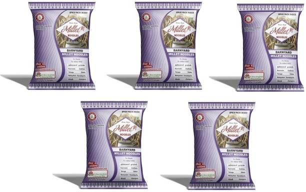 e-Millet Barnyard Millet Noodles with Masala pack of 190g x 5 nos Hakka Noodles Vegetarian