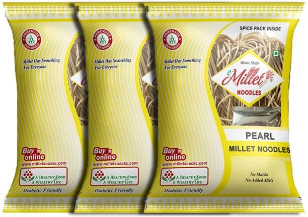 e-Millet Pearl Millet Noodles with Masala pack of 190g x 3 nos Hakka Noodles Vegetarian
