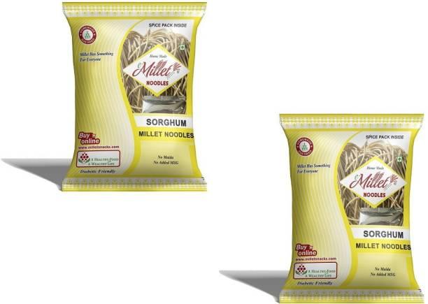 e-Millet Sorghum Noodles with Masala pack of 190g x 2 nos Hakka Noodles Vegetarian