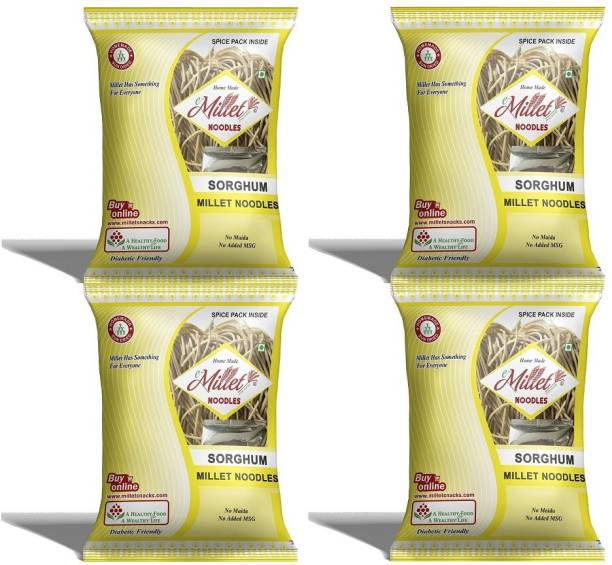 e-Millet Sorghum Noodles with Masala pack of 190g x 4 nos Instant Noodles Vegetarian