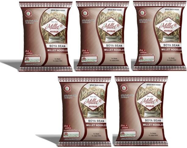 e-Millet Soya Noodles with Masala pack of 190g x 5 nos Hakka Noodles Vegetarian