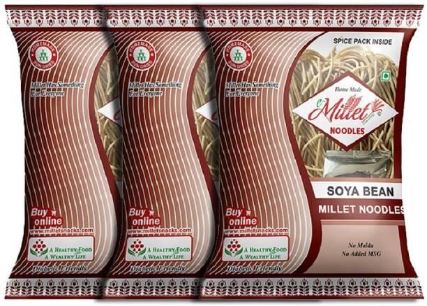 e-Millet Soya Noodles with Masala pack of 190g x 3 nos Hakka Noodles Vegetarian