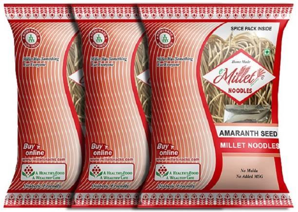 e-Millet Amaranth Seed Noodles with Masala pack of 190g x 3 nos Instant Noodles Vegetarian