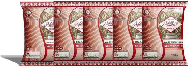 e-Millet Amaranth Seed Noodles with Masala pack of 190g x 5 nos Hakka Noodles Vegetarian