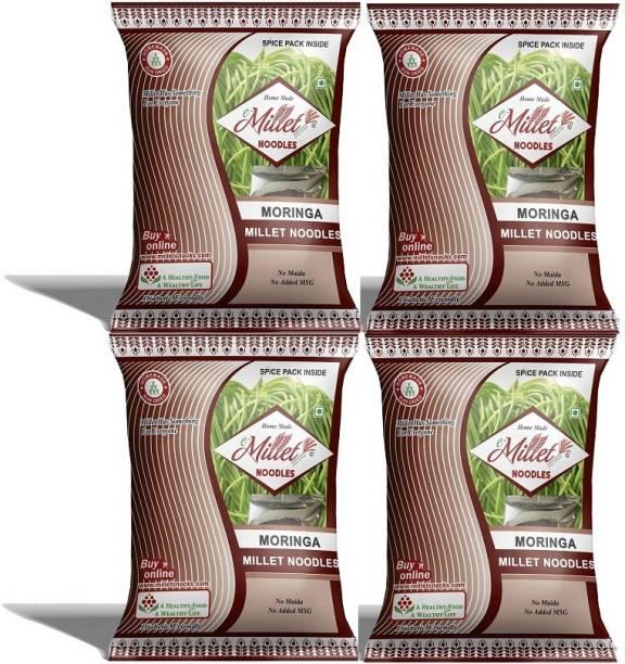 e-Millet Moringa Noodles with Masala pack of 190g x 4 nos Hakka Noodles Vegetarian