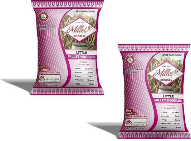 e-Millet Little Millet Noodles with Masala pack of 190g x 2 nos Hakka Noodles Vegetarian
