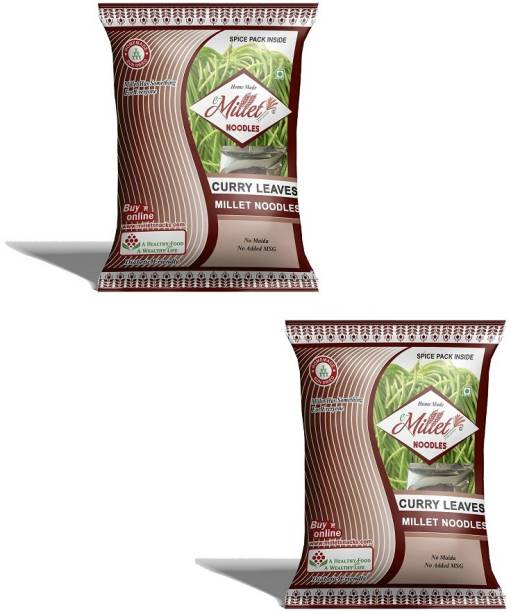 e-Millet Curry Leaves Noodles with Masala pack of 190g x 2 nos Instant Noodles Vegetarian