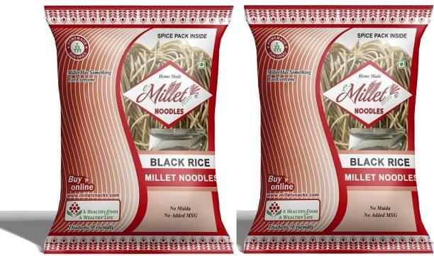 e-Millet Black Rice Noodles with Masala pack of 190g x 2 nos Instant Noodles Vegetarian