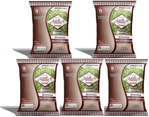 e-Millet Moringa Noodles with Masala pack of 190g x 5 nos Hakka Noodles Vegetarian