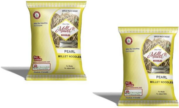 e-Millet Pearl Millet Noodles with Masala pack of 190g x 2 nos Hakka Noodles Vegetarian