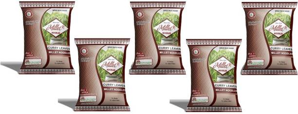 e-Millet Curry Leaves Noodles with Masala pack of 190g x 5 nos Hakka Noodles Vegetarian