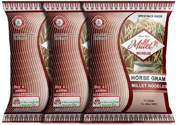 e-Millet Horse Gram Noodles with Masala pack of 190g x 3 nos Instant Noodles Vegetarian