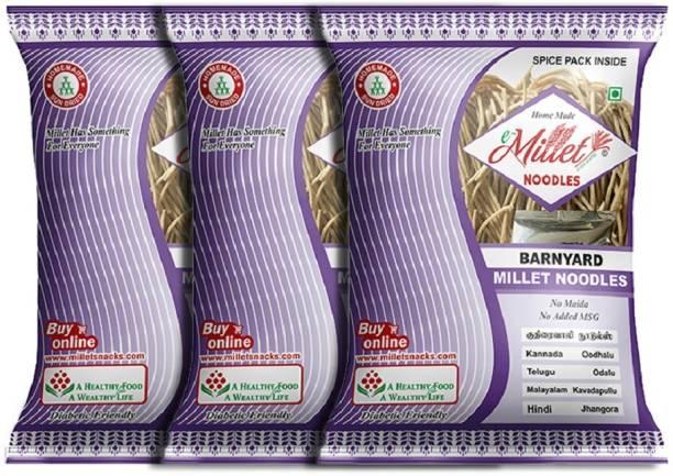 e-Millet Barnyard Millet Noodles with Masala pack of 190g x 3 nos Hakka Noodles Vegetarian