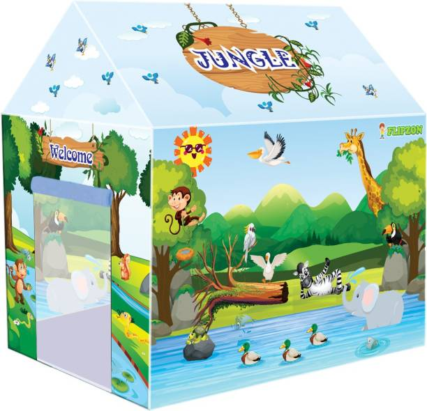 Flipzon Jungle Indoor Kids Play Tent House for Girls and Boys