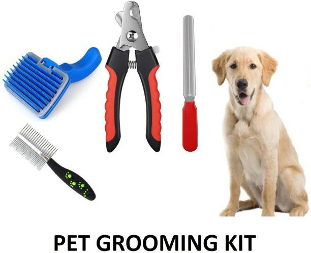 Hachiko Combo Of 3 Imported High Quality Grooming Kit For Pets Basic Comb for  Dog, Cat, Rabbit, Hamster