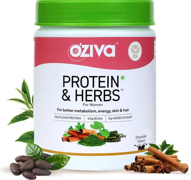 OZiva Protein & Herbs, Women, Whey Protein with Ayurvedic Herbs Whey Protein
