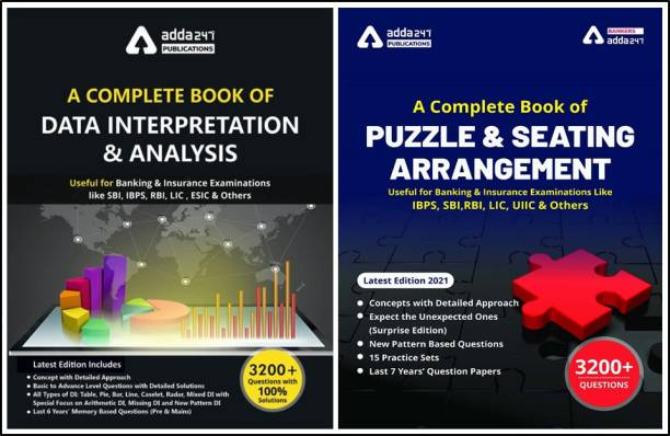A Complete Book On Data Interpretation & Analysis And A Complete Book For Seating Arrangement And Puzzles (A Combined Set Of Two Books) Third Edition