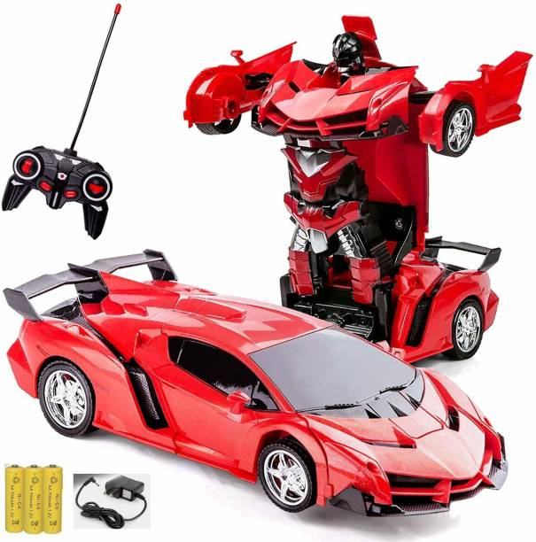 EVURAAJ ENTERPRISE Remote Control Rechargeable Robot 2 in 1 Deformation Car Toy for Kids for Kids Transformation Car