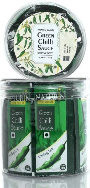 Naturin Green Chilli Sauce - 10g (30 Sachet) Sauce