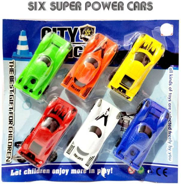 ANANYA CREATIONS City Police Super Six Car set Die Cast set a perfect car set toy for kids (Multicolor) Gift Type Toy Girl's & Boys