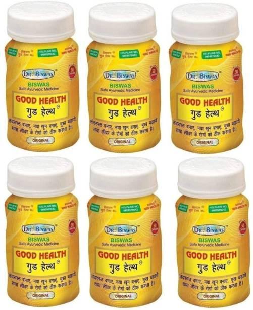 Dr. Biswas Ayurvedic Medicine Good Health 50 Capsules (Pack of 6)
