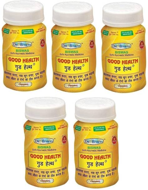Dr. Biswas Ayurvedic Medicine Good Health 50 Capsules (Pack of 5)