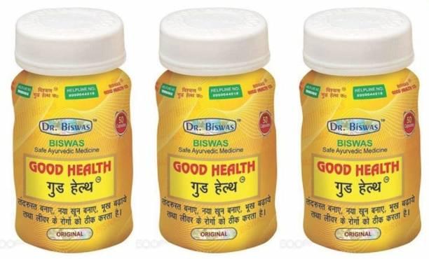 Dr. Biswas Ayurvedic Medicine Good Health 50 Capsules (Pack of 3)