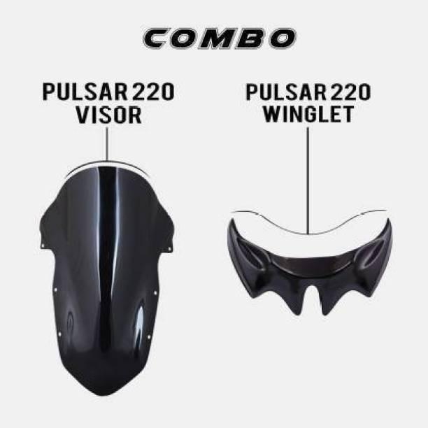 Santech pulsar220 visor+winglet combo Bike Headlight Visor