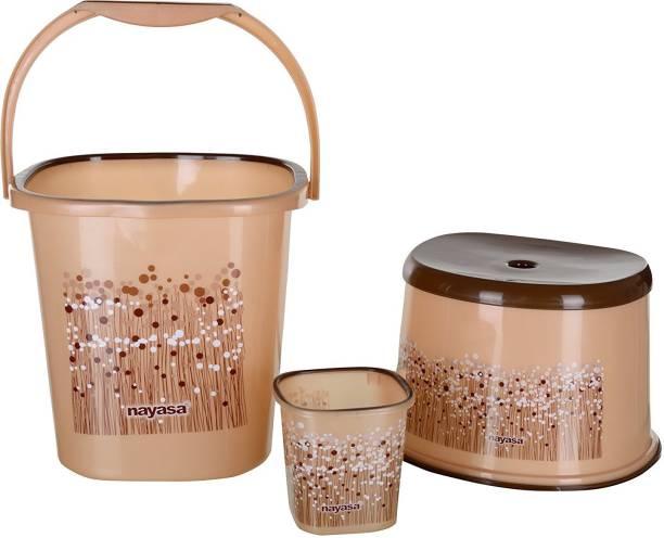 NAYASA 25 L BUCKET MUG AND STOOL SET 25 L Plastic Bucket