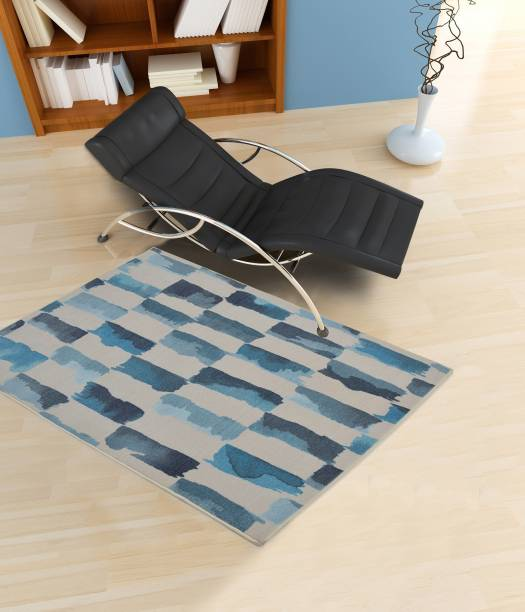 Flipkart Perfect Homes Blue Polyester Area Rug