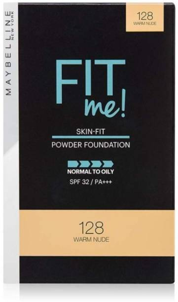 MAYBELLINE NEW YORK FIT ME 128 WARM NUDE COMPACT POWDER 9G SET OF 1 Compact