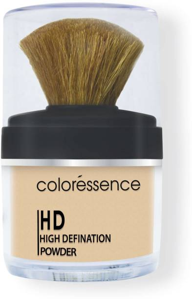 COLORESSENCE High Definition Loose Powder Soft Focus Natural Translucent Matte Coverage with Brush Compact