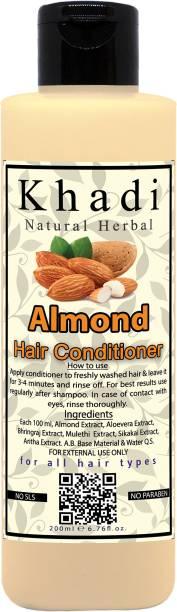 khadi natural herbal Almond Hair Conditioner, 200ml | No Paraben and No SLS