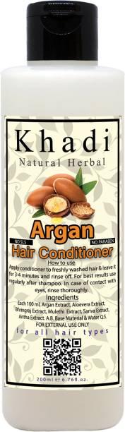 khadi natural herbal Argan Hair Conditioner, 200ml | Paraben and SLS Free