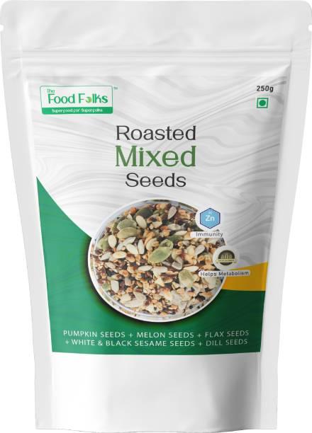 The Food Folks The Food Folks Mixed Seeds (250g) - Mix of Pumpkin Seeds, Melon Seeds, Flax Seeds, White & Black Sesame Seeds & Dill Seeds