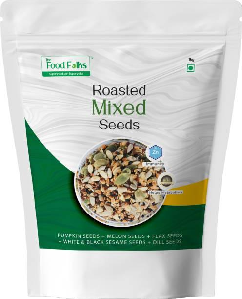 The Food Folks The Food Folks Mixed Seeds (1kg) - Pumpkin Seeds, Melon Seeds, Flax Seeds, White & Black Sesame Seeds & Dill Seeds