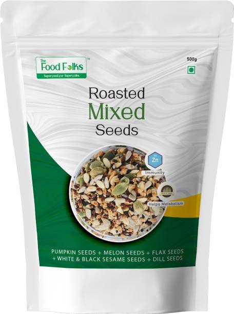 The Food Folks The Food Folks Mixed Seeds (500g) - Pumpkin Seeds, Melon Seeds, Flax Seeds, White & Black Sesame Seeds & Dill Seeds