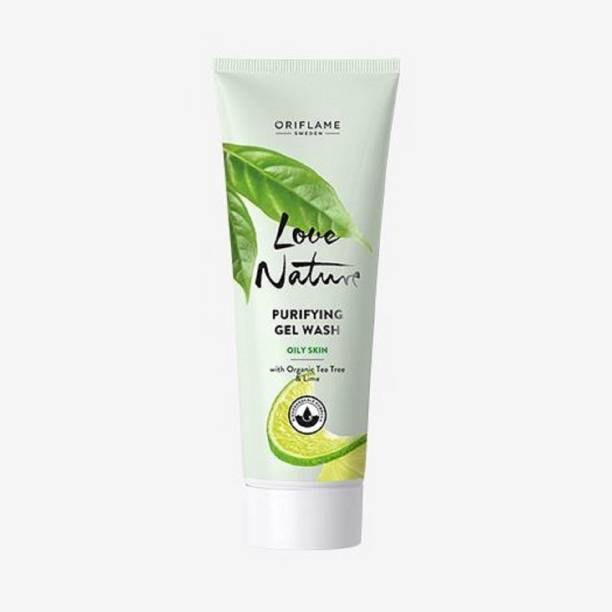 Oriflame Sweden LOVE NATURE Purifying Gel Wash with Organic Tea Tree Face Wash